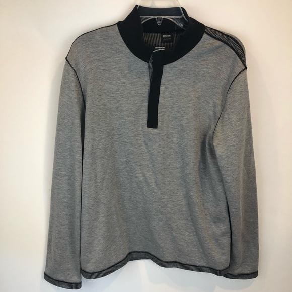 4b3ffbfc Hugo Boss Shirts | Gray Black Regular Fit Pullover Shirt | Poshmark